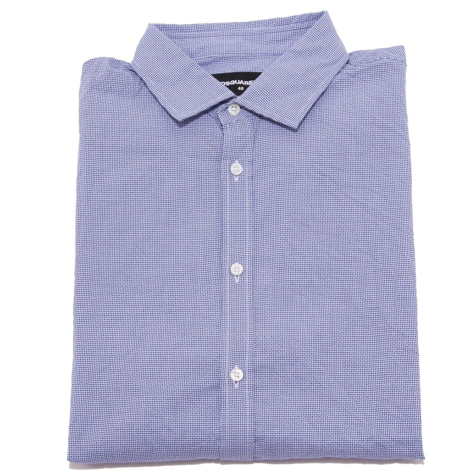 4842W camicia uomo DSQUARED2 crumpled blu shirt men
