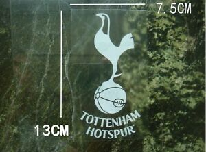 2 pc fun decal fc tottenham internal car window sticker clear white ebay. Black Bedroom Furniture Sets. Home Design Ideas