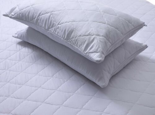 2 PCS /& 4 PCS Quilted Pillowcase Protector Zipper Ultrasonic Bed Pillow Case