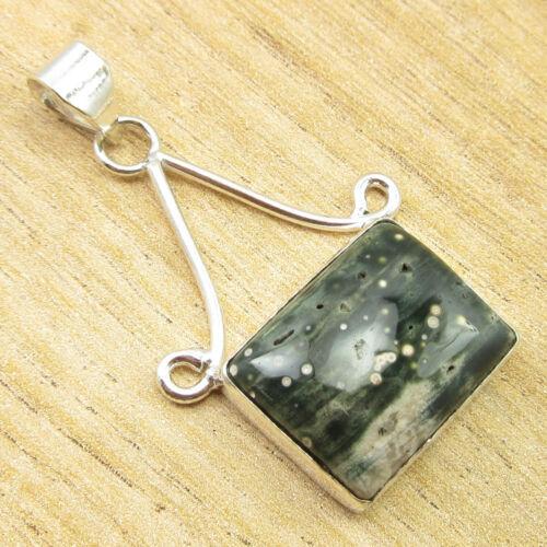 925 Silver Plated HANDMADE Jewelry PREHNITE /& Other Gemstones FASHION Pendant