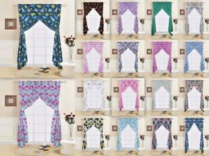 4 Pc Kids Amp Teens Complete Window Curtain Treatments Set