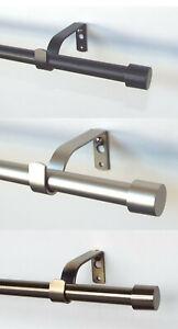 16mm-Gardinenstange-Kappe-mit-Winkelhaltern-100-160-200-280-320-360-400-cm