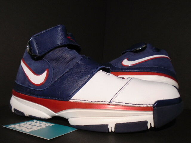 2007 Nike Zoom KOBE II 2 ST STRENGTH USA OLYMPIC WHITE blueE RED 316835-411 DS 11