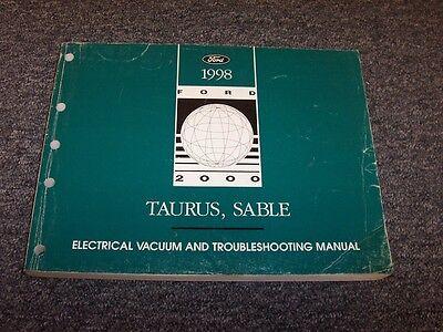 1998 Mercury Sable Sedan Electrical Wiring & Vacuum ...