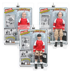 The Three Stooges Retro Style 8 Inch Action Figures No Census No Feeling Curly