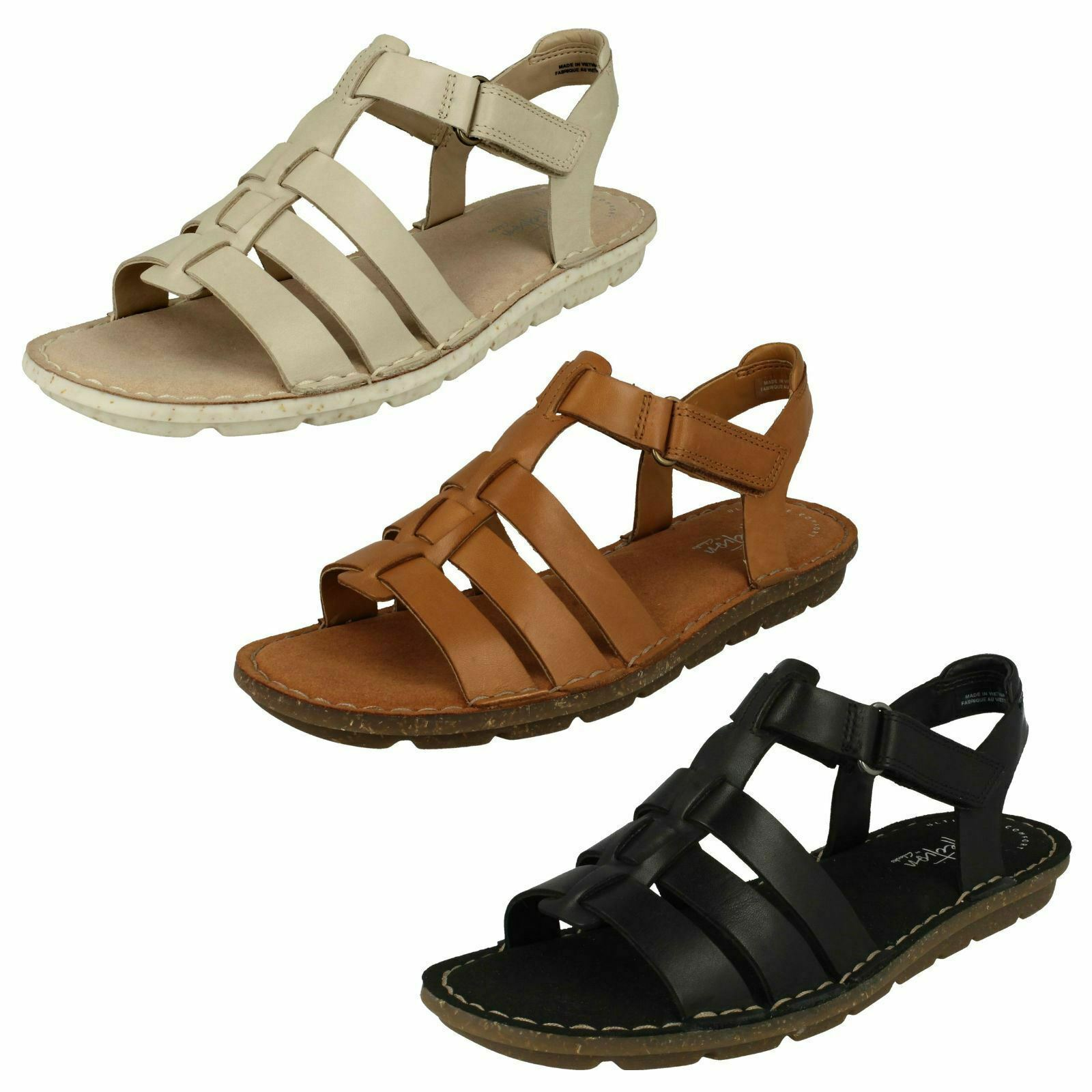 Woman Clarks Blake Jewelry Casual Leather Sandals-Fit D