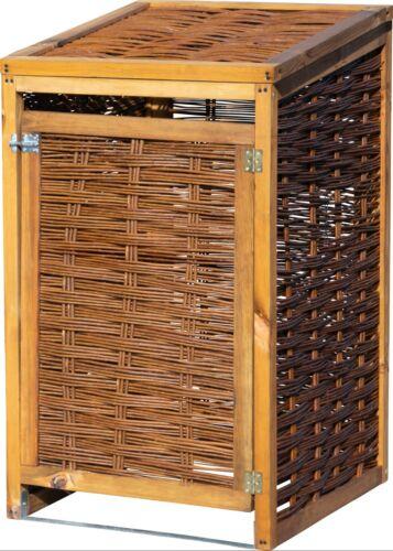 Holz 120l Mülltonnen-Versteck aufklappbare Verkleidung Mülltonnen-Box Weide