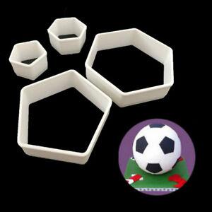 Sugarcraft Fussball Fondant Mold Ausstecher Kuchen Dekor