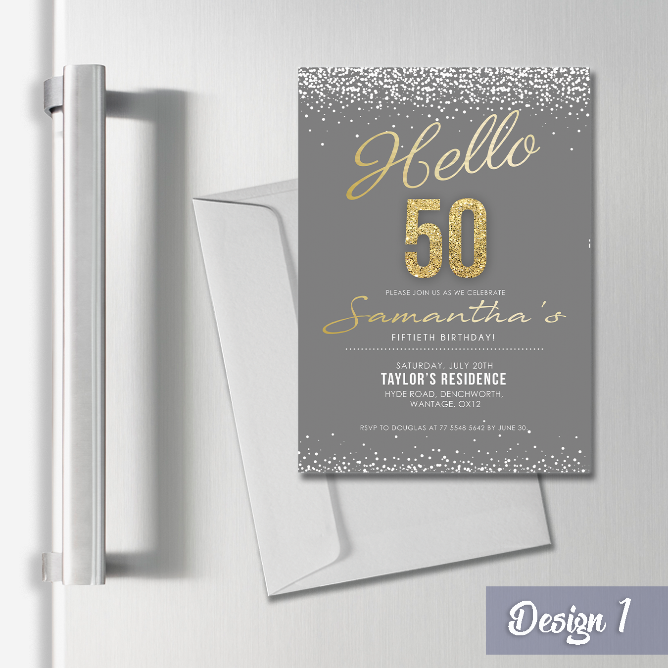 Personalised Birthday Adult A6 Invitation & Thank you Cards   A6 Fridge Magnets