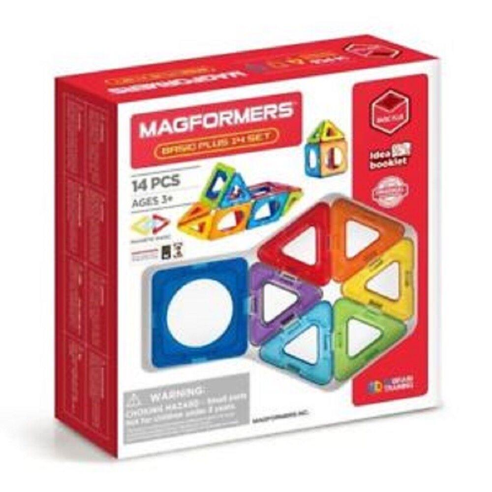Magformers Basic Plus Magnetic Construction 14 Piece Set