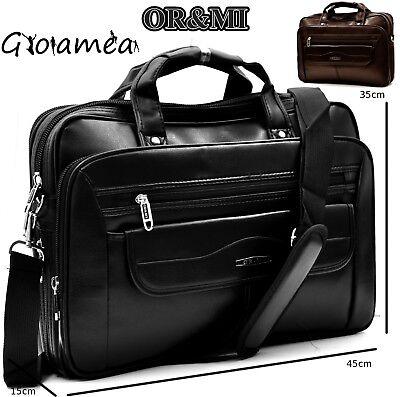 d57d55b6300562 portadocumenti 24 ore pelle uomo borsa cartella tracolla valigetta  organizer | eBay