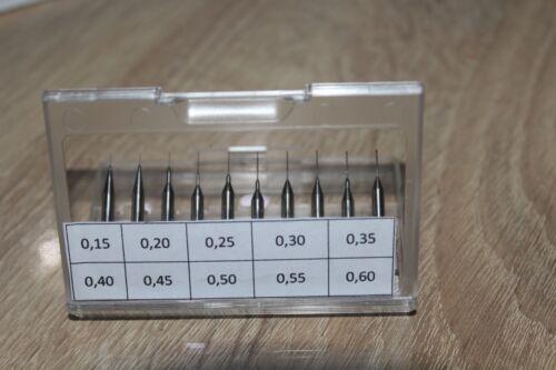Vollhartmetallbohrer 30 St --/>0,15mm bis 5,60mm wählen