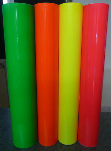 Fluorescent Self Adhesive Sign Vinyl  610mm x 5m Cutter Sticky Back Plastic