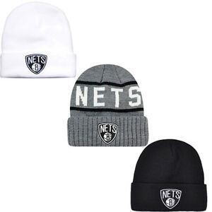Mitchell   Ness NB Brooklyn Nets Beanie Mens Adults Hat UW18  ef48713a4b72