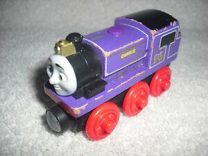 THOMAS & FRIENDS CHARLIE WOODEN RAILWAY WOOD MAGNETIC TRAIN ENGINE PURPLE #14
