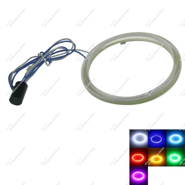 1X 95mm COB Led Halo Rings Angel Eye for Cars Headlights Multicolor Light 20753