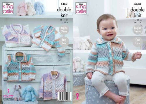 KINGCOLE 5453 Baby DK KNITTING PATTERN sizes 14-22 not the finished items