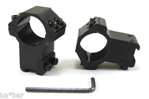 25mm-to-11mm-1-034-X-3-8-034-INCH-MOUNT-SCOPE-SIGHT-RINGS-BASE-HIGH-PROFILE-AIRSOFT
