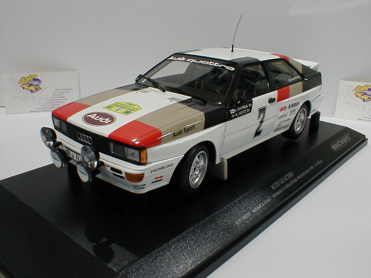 Minichamps 155811102 - Audi Quattro Winner Schweden Rallye 1981 Mikkola 1 18 NEU  | Verrückte Preis