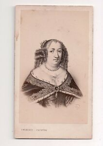 Vintage-CDV-Anne-of-Austria-Queen-of-France-Jacotin-Photo