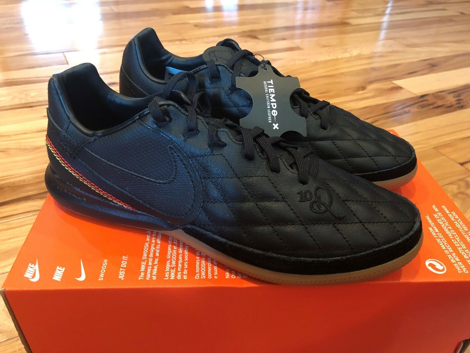 Nike TiempoX Finale Ronaldinho 10R IC Soocer Football Shoes AQ2201-007 Size 8