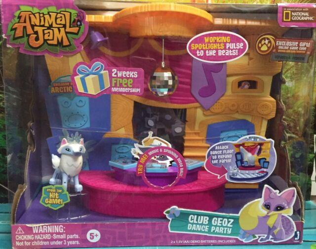 NEW Animal Jam CLUB GEOZ DANCE PARTY Playset Exclusive ...