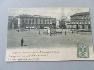 CP Carte Postale Période Napoli Piazza Plebiscito Vista De S.Francesco Shipped