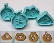 Angry Birds Plunger Cookie Cutter 4 pc Set - NEW