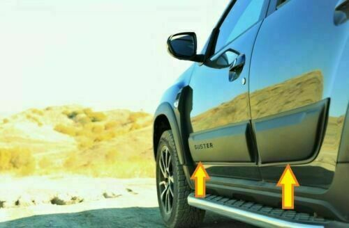 2018Up Dacia Duster Sidedoor Protector Reforzado Tiras ABS Moldura Cuerpo