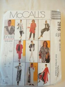 Vintage 2000 Sewing Pattern Tunic-Top-Pull on Pants & Scarf Size 20-22-24 Uncut