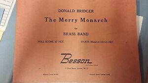 Bridger: Les Joyeux Monarque: Brass Band Music Score-afficher Le Titre D'origine Conduire Un Commerce Rugissant