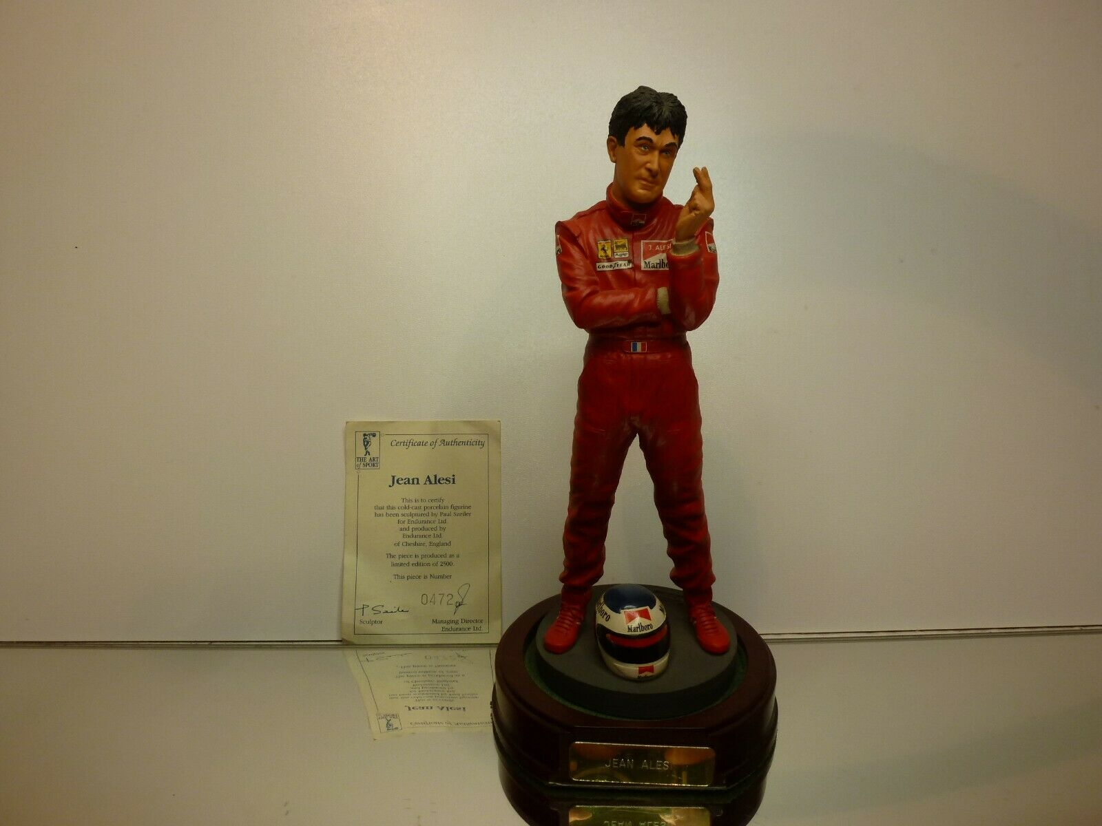 THE ART  OF SPORT - FIGURINE of JEAN ALESSI F1 - H21.0cm limited ed - VERY GOOD  assurance qualité