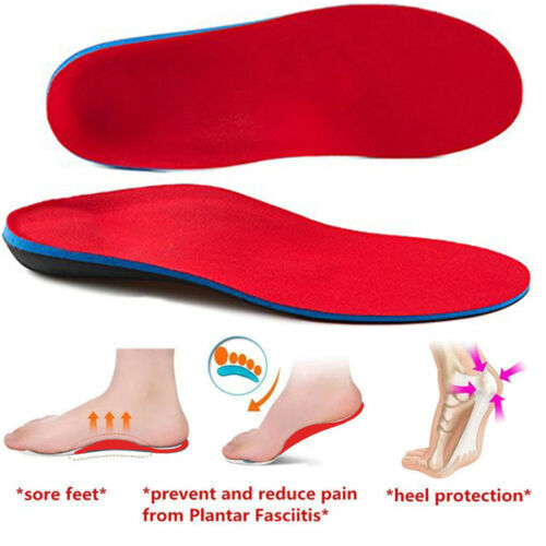 Man Woman Gel Insoles Orthotic Shoe Arch Support Flat Feet Foot High Inserts Pad