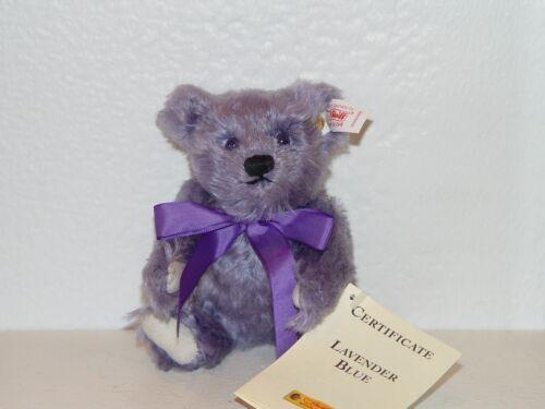 16cm NEW Steiff MINI LAVENDER BLUE Teddy Bear EAN 666049 MOHAIR 6.29 inches