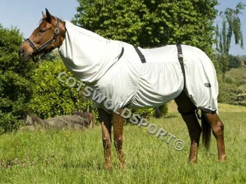 """Cs Sweet Itch Fly Rug /& moucherons gris 6ft 6 /"""" 198 cm"""