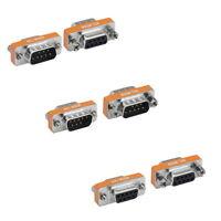 Mini Null Modem Db9 9 Pin Male Female M/m M/f F/f Serial Adapter Gender Changer