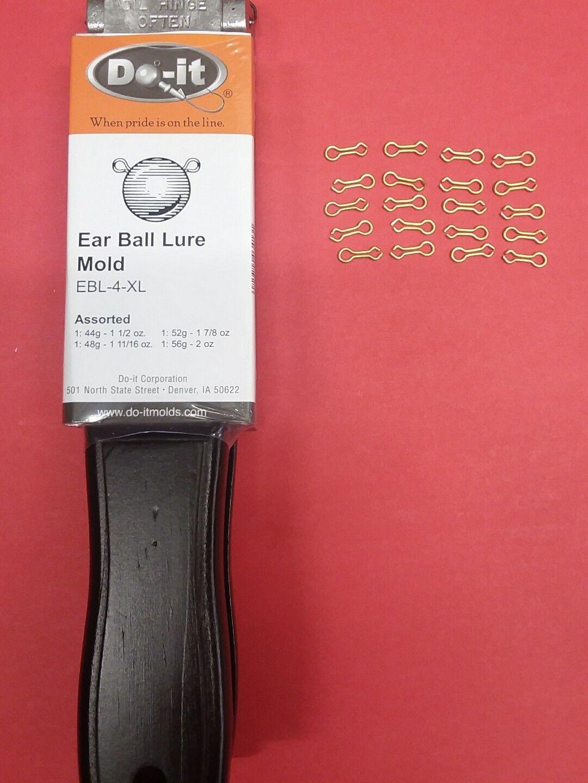 3413 NEW DO-IT EAR BALL LURE MOLD   2, 2 oz.,EBL-4-XL, w 20 eyes