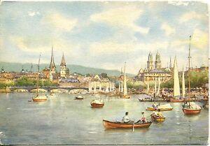 Alte-Kunstpostkarte-Zuerich