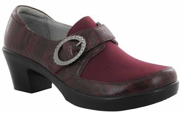 Alegria 40 Holli Shoes 40 Alegria (  10) Spiffy Merlot Pelle PG Lite HOL-697 NEW  135 103816