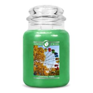 ☆☆CARNIVAL VIBES☆☆LARGE GOOSE CREEK CANDLE JAR 24 OZ.☆☆ FREE FAST SHIPPING