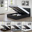 Memory Foam Mattress 3ft 4ft6 5ft Faux Leather Ottoman Storage Gas Lift Up Bed
