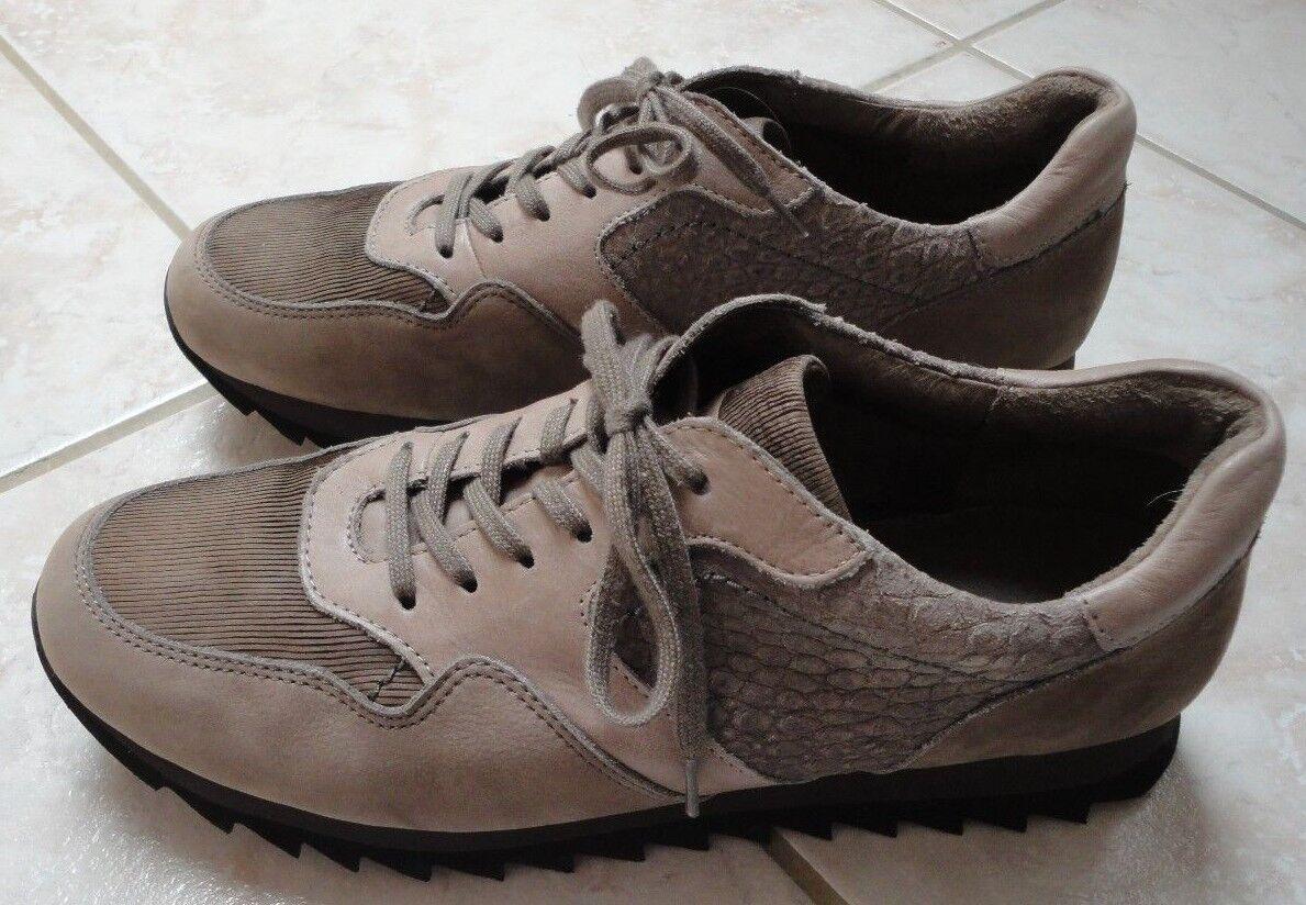 Gabor Sneaker Schnürer Halbschuhe 41- 41,5 / 7,5 braun braun braun schlamm NP125 NEUwertig 9e78a2