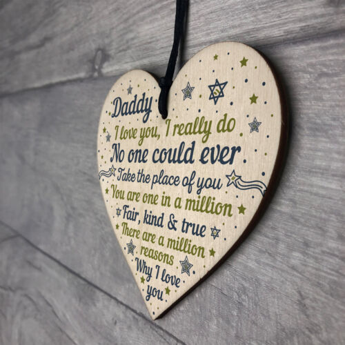 Home Furniture Diy Other Celebrations Occasions Daddy Daughter Gifts Fathers Day Gift Wooden Heart Dad Birthday Gift From Son Mtmstudioclub Com