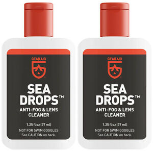Gear Aid Sea Drops 1.25 oz. Water Sports Anti-Fog and Lens Cleaner - 2-Pack