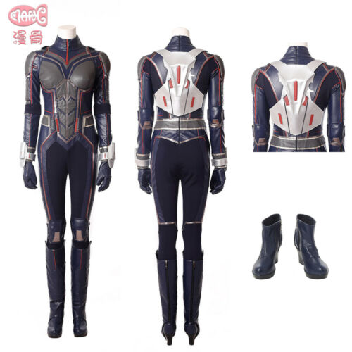2018 New Movie Ant-Man And The Wasp Cosplay Costume Women Halloween Jumpsuit