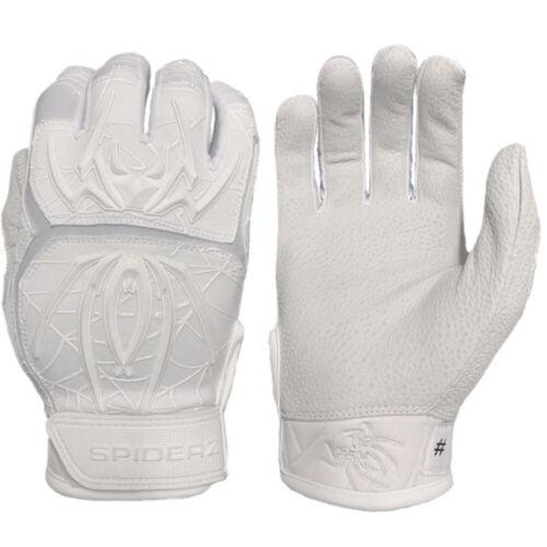 Medium Spiderz 2020 Endite Baseball//Softball Batting Gloves Whiteout