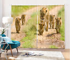 3D Road Leopards 2 Blockout Photo Curtain Printing Curtains Drapes Fabric Window