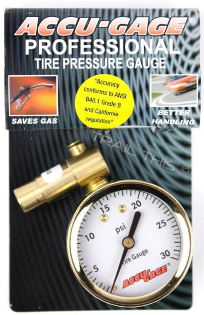 60psi Meiser Presta-Valve Dial Gauge with Pressure Relief