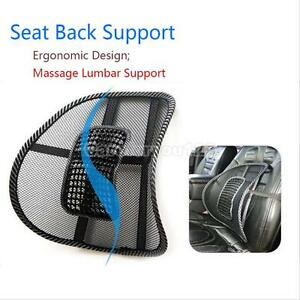Top-Mesh-Lumbar-Back-Brace-Support-Office-Home-Car-Seat-Chair-Cushion-Cool-Black