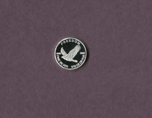 Freedom Flying Eagle 1//10 Ounce .999 Fine Silver Round...Nice